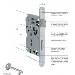 Serratura Patent Piccola Entrata 35mm Bronzata
