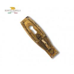 Maniglia Su Lastra In Ottone Foro Chiave 25x88mm
