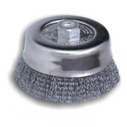 Spazzola Tazza Per Smerigliatrice 230 Acciaio D100