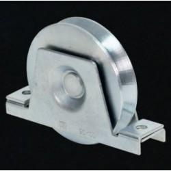 Ruota D120mm Con Supporto 1 Cuscinetto Gola Tonda