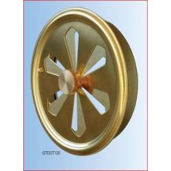 Griglia Aerazione Tonda C/dosatore Ottone D120mm