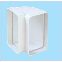 Curva Verticale Per Tubo 120x60mm Plastica