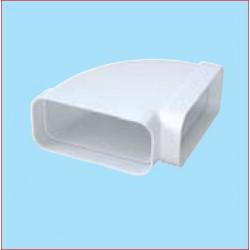 CURVA ORIZZONTALE PER TUBO 120X60MM PLASTICA