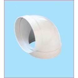 Curva 90° Per Tubo Aspirazione D100mm Plastica