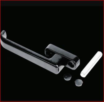 Mezza Maniglia Alluminio Nera Collo Ribassato