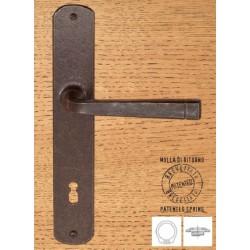 Maniglia Forgiata Su Placca 8x90 Con Molla