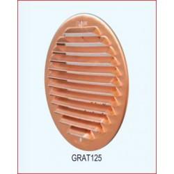 Griglia Aerazione Inox Tonda Diametro 125mm
