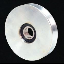 Ruota Acciaio 2 Cuscinetti D80mm Gola Tonda