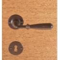 Maniglia Ferro Su Rosetta Patent Senza Molla