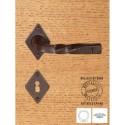 Maniglia Ferro Su Rosetta Yale Con Molla