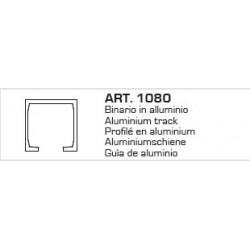 Binario Alluminio Argento Mt3