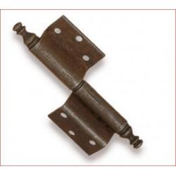 Cerniera Piegata 70x105mm Ottone Anticato Sinistr