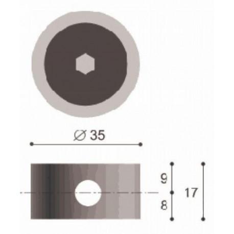 GIUNZIONE ECCENTRICA D35 METALLO + PERNO M8