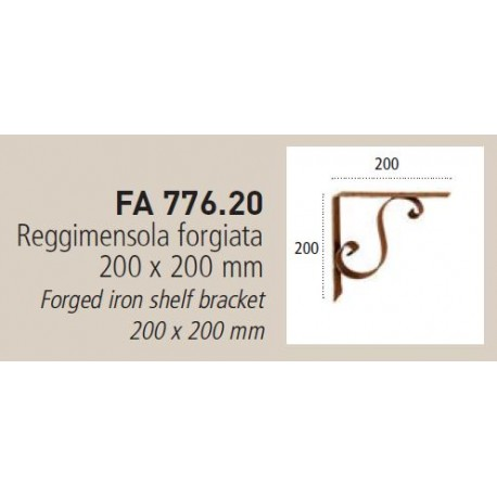 REGGIMENSOLA FORGIATA 200X200MM